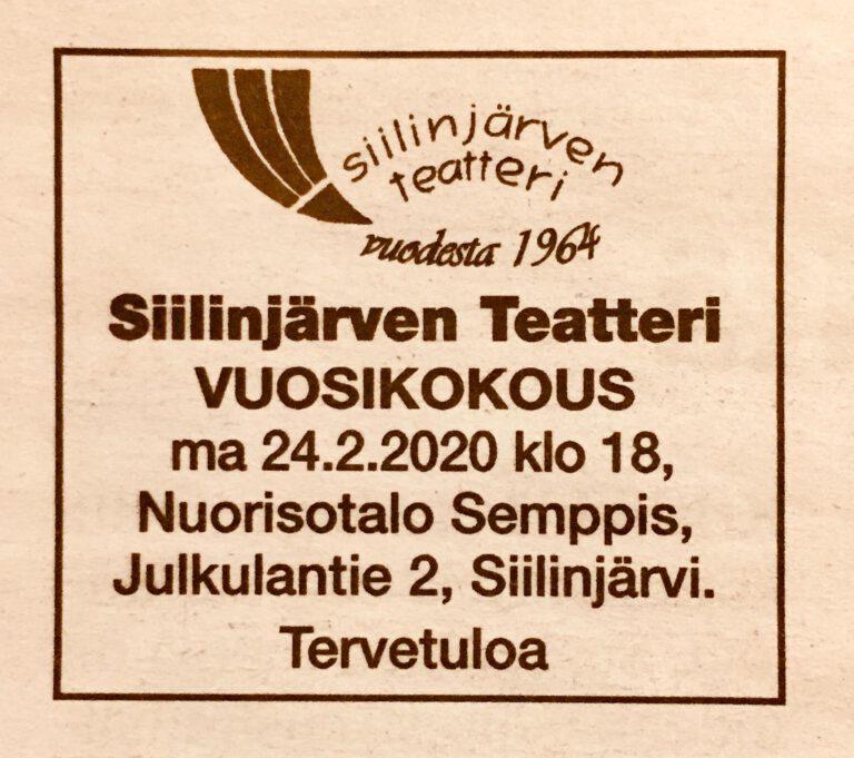 Vuosikokouskutsu 24.2.2020