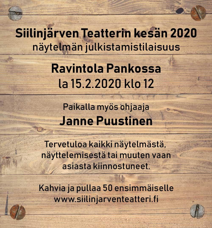 Kesän 2020 näytelmän julkistamistilaisuus